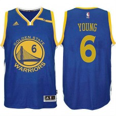 Golden State Warriors #6 Nick Young Blue Road Jersey