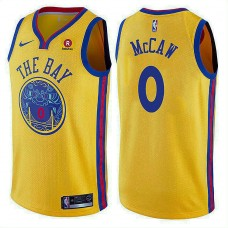 Golden State Warriors #0 Patrick McCaw Gold City Jersey