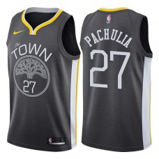 Golden State Warriors #27 Zaza Pachulia Gray Statement Jersey