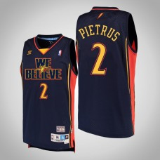 Golden State Warriors #2 Mickael Pietrus Navy We Believe Jersey