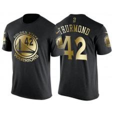 Golden State Warriors #42 Nate Thurmond Gilding T-Shirt