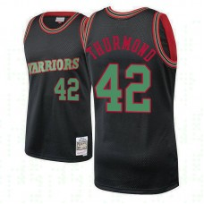 Golden State Warriors #42 Nathaniel Thurmond Black Hardwood Classics Christmas Jersey