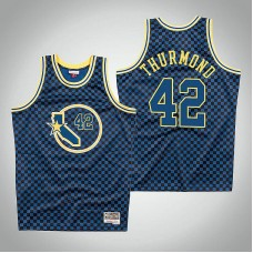 Nathaniel Thurmond Golden State Warriors #42 Checkerboard Royal Jersey