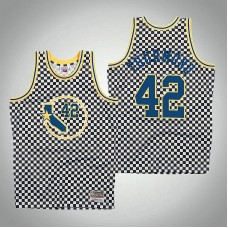 Golden State Warriors #42 Nathaniel Thurmond White Checkerboard Jersey