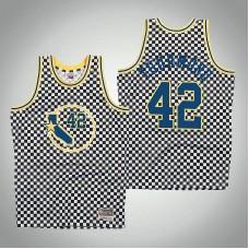 Golden State Warriors #42 Nathaniel Thurmond White Checkerboard Jersey