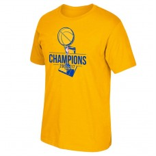 Golden State Warriors 2017 Champions Primary Logo Gold T-Shirt