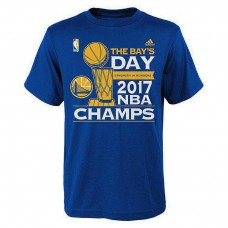 Youth Golden State Warriors 2017 Champions Another Celebration Parade Royal T-Shirt
