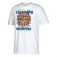 Youth Golden State Warriors 2017 Champions Caricature White T-Shirt