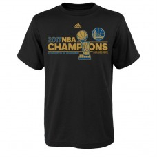 Youth Golden State Warriors 2017 Champions Locker Room Black T-Shirt