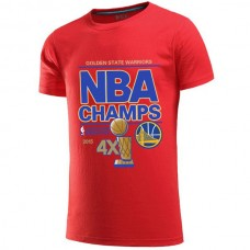2015 Finals Champion Golden State Warriors Red T-Shirt