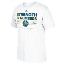2015 Finals Strengthen in Numbers Golden State Warriors White T-Shirt