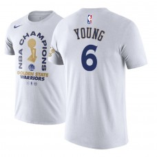 Golden State Warriors #6 Nick Young White 2018 Champions T-Shirt