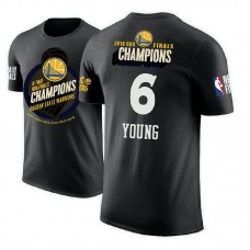 Golden State Warriors #6 Nick Young Black 2018 Champions T-Shirt