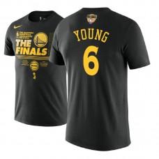 Golden State Warriors #6 Nick Young Black Finals T-Shirt