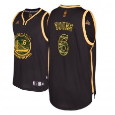 Golden State Warriors #6 Nick Young Black Military Camo Fashion Jersey