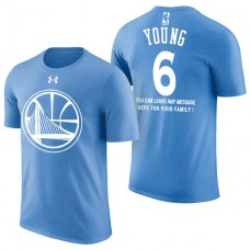 Golden State Warriors #6 Nick Young Blue Father's Day T-Shirt
