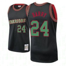 Golden State Warriors #24 Rick Barry Hardwood Classics Christmas Jersey