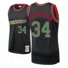 Golden State Warriors #34 Shaun Livingston Black Hardwood Classics Christmas Jersey