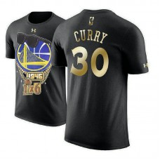 Golden State Warriors #30 Stephen Curry Black 2018 Champions T-Shirt