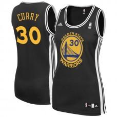 Women's Golden State Warriors #30 Stephen Curry Black Alternate Jersey