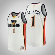 Golden State Warriors #1 Stephen Jackson White We Believe Jersey