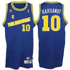 Golden State Warriors #10 Tim Hardaway Blue Hardwood Classics Jersey