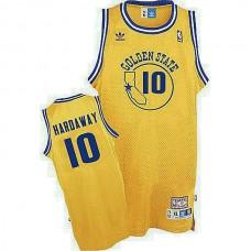 Golden State Warriors #10 Tim Hardaway Gold Hardwood Classics Jersey