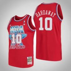 Golden State Warriors #10 Tim Hardaway Red 1991 All-Star Jersey