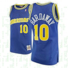 Golden State Warriors #10 Tim Hardaway Royal Hardwood Classics Jersey