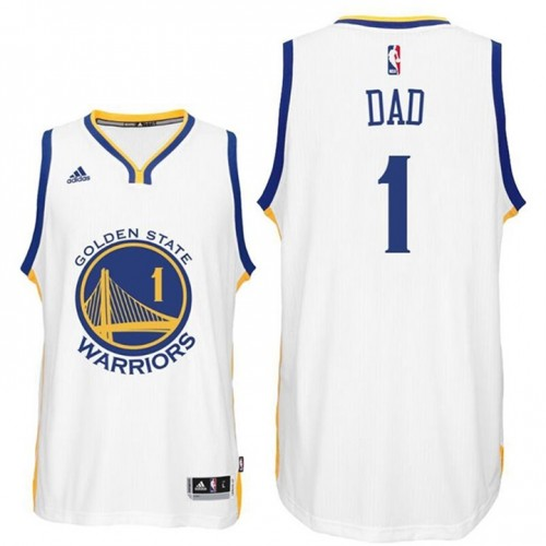 Father's Day Dad Logo #1 Golden State Warriors Swingman White Jersey