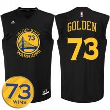 2016 Record Breaking Season Golden State Warriors 73 Wins Black Jersey