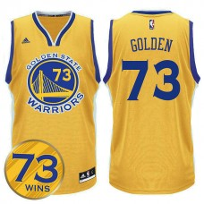 2016 Record Breaking Season Golden State Warriors 73 Wins Gold Jersey