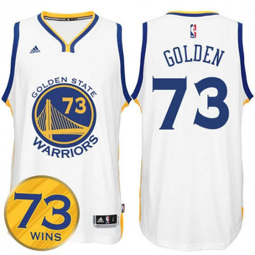 2016 Record Breaking Season Golden State Warriors 73 Wins White Jersey