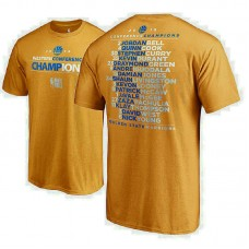 Golden State Warriors 2018 Western Conference Champions Backcourt Roster Gold T-Shirt