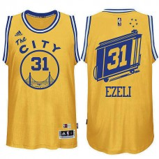 Golden State Warriors #31 Festus Ezeli Hardwood Classics Jersey