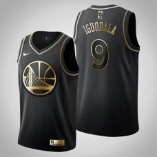 Golden State Warriors #9 Andre Iguodala Black Golden Edition Jersey