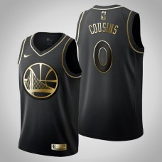 Golden State Warriors #0 DeMarcus Cousins Black Golden Edition Jersey