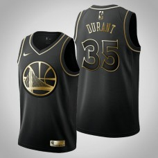 Golden Edition Kevin Durant Golden State Warriors Black Jersey