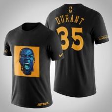 Golden State Warriors Kevin Durant #35 Black Legend Caricatrue T-shirt