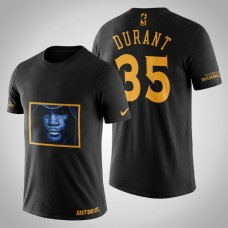 Golden State Warriors Kevin Durant #35 Black Legend Death Face T-shirt