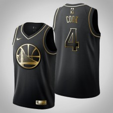 Golden State Warriors #4 Quinn Cook Black Golden Edition Jersey