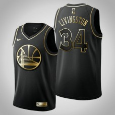 Golden State Warriors #34 Shaun Livingston Black Golden Edition Jersey