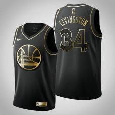 Golden State Warriors #34 Shaun Livingston Black Golden Edition Jersey