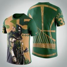 Golden State Warriors Kevin Durant #35 Comic  Doctor Doom Marvel T-Shirt  -  Green