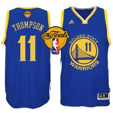 2015 Finals Golden State Warriors Klay Thompson Blue Jersey