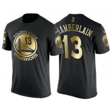 Golden State Warriors #13 Wilt Chamberlain Gilding T-Shirt