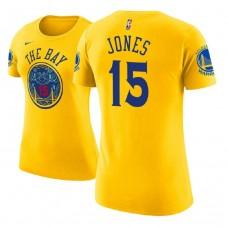 Women's Golden State Warriors #15 Damian Jones Gold City T-Shirt