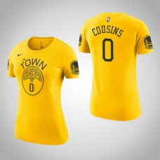 Women's Golden State Warriors #0 DeMarcus Cousins Earned T-Shirt