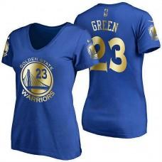 Women's Golden State Warriors #23 Draymond Green Royal Name & Number T-Shirt