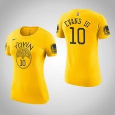 Women's Golden State Warriors #10 Jacob Evans III Earned T-Shirt